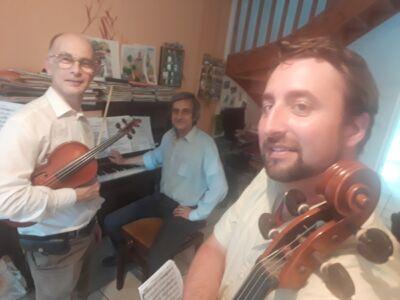Le trio de Talencia : Philippe, Yonnel et Karim (de gaiche à droite)